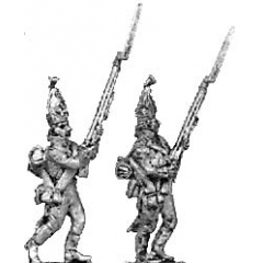 Grenadier, mitre, advancing