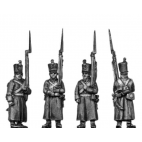 Musketeer, shako, greatcoat, march-attack