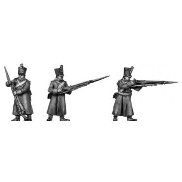 Musketeer, shako, greatcoat, skirmishing