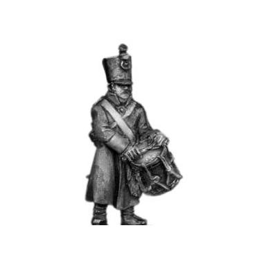 Musketeer drummer, shako, greatcoat