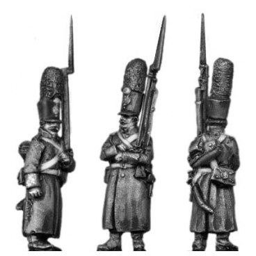Grenadier, shako, greatcoat, march-attack
