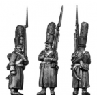 Grenadier, shako, greatcoat, march-attack