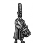 Grenadier drummer, shako, greatcoat