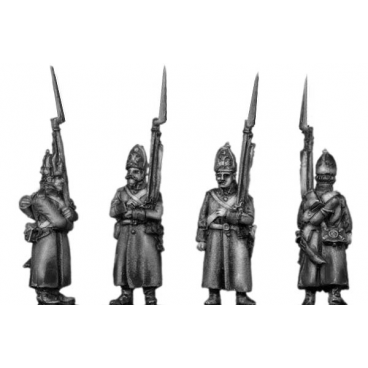 Fusilier, greatcoat, march-attack