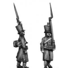 J¦ger, greatcoat, marching