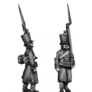 Jager, greatcoat, marching