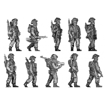 Infantry section, walking