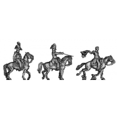 Russian Staff Officers mounted