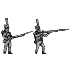 Light infantry skirmisher, firing and loading