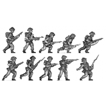 Infantry section, advancing