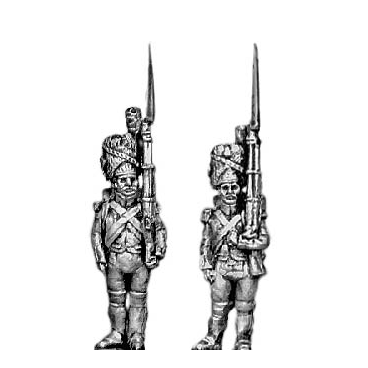 Grenadier of the Guard, at attention, full dress