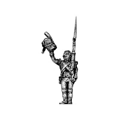 Grenadier of the Guard, cheering