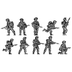 Infantry squad, attacking poses