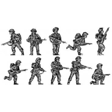 Infantry section, attacking poses