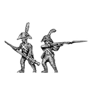 Fusilier, cocked hat, firing and loading
