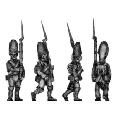 Grenadier, fur cap, marching
