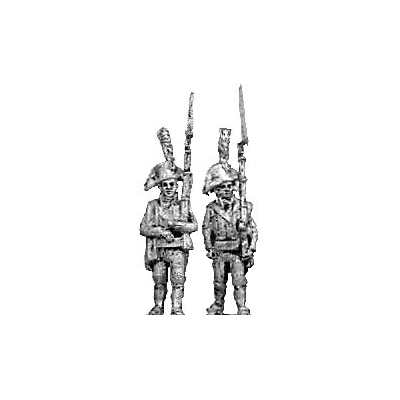 1805 Light infantry, marching